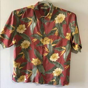 Tommy Bahama silk hibiscus print. XLarge